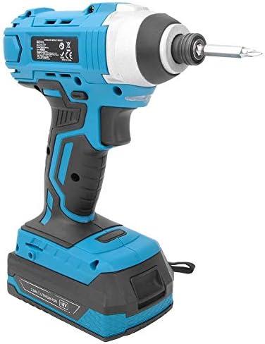 Nouveau Et Mode Clé à chocs sans fil 18V Kit de tournevis et chargeur de batterie Li-Ion 100-240V bleu et noir  EyCDQ