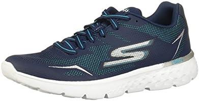 SKECHERS 14808X Tenis para Correr para Mujer, color Marino/Aqua, 24
