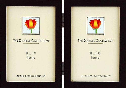 the-original-daniels-w41-square-corner-gallery-woods-ebony-black-stain-hinged-8x10-double-by-dennis-