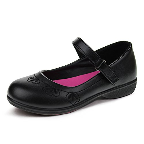 Hawkwell School Uniform Mary Jane Flat (Toddler/Little Kid),Black PU,13 M US (Little Girl Walking)