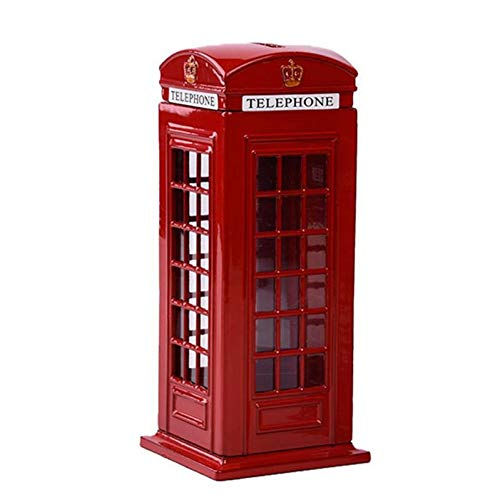 British English London Telephone Booth Bank Coin Bank, used for sale  Delivered anywhere in Canada