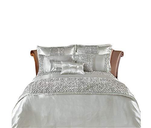 Fancy Sequin Quilt Duvet Cover Bedding Set Double King Super King /& Pillow cases