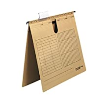 Falken - Carpeta colgante UniReg de cartón reciclado para DIN A4, ideal para la oficina y la autoridad