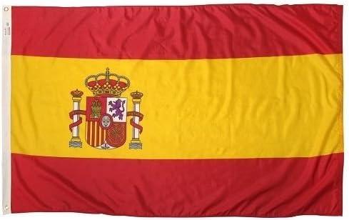 5 x 8 pies bandera de España español bandera Rough Tex de punto 5 X8 Banner: Amazon.es: Hogar