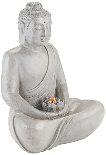Buddha 25″ High Gray Stone Indoor/Outdoor LED Fountain Review