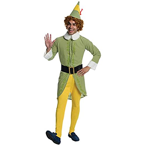 Rubieu0027s Elf Movie Buddy The Elf Costume Green Standard Size  sc 1 st  Amazon.com : christmas costumes amazon  - Germanpascual.Com