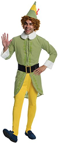 Man With Yellow Hat Costume Amazon (Elf Movie Buddy The Elf Costume, Green, Standard Size)