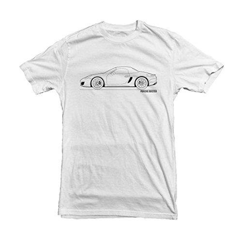 porsche-boxster-outline-mens-car-t-shirt-size-l-white-apparel