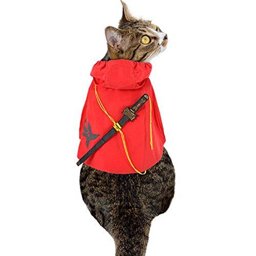 Ninja Cat Costume (Alfie Pet by Petoga Couture - Dorsey Ninja Warrior Costume - Color : Red, Size: Large)
