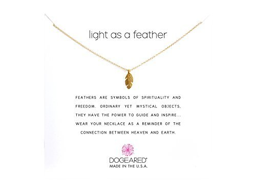Dogeared Women's Light As a Feather Reminder Gold One Size