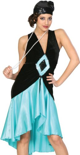 (20s Style Puttin on the Ritz (teal) Adult Costume Size 6-8)