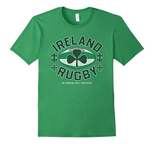 Mens Ireland Rugby - No Winners, Only Survivors T-Shirt XL Grass