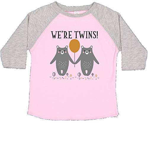 (inktastic - Twins Baby Woodland Bears Toddler T-Shirt 4T Pink and Heather 35598)