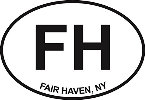 Fair Haven Euro Oval Bumper Sticker