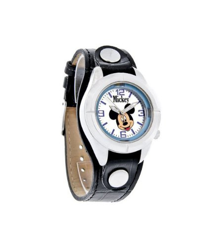 Juniors Blue Dial Black Leather Band Watch MCK534 ()