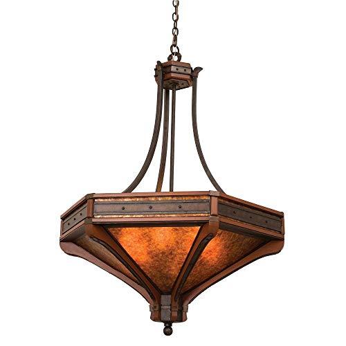Kalco 5838NI, Aspen Large Bowl Pendant, 6 Light, 360 Total Watts, Iron