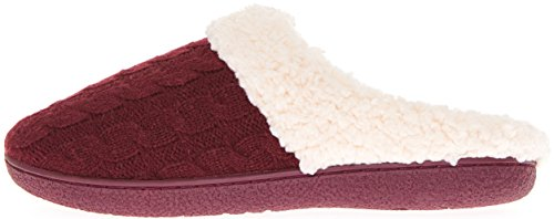 302 Memory Outdoor Sherpa Foam Indoor Womens Wine Clog W Floopi Knitted Slipper Lined qpw7BEz