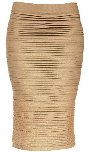 KMystic Strapless Tube Dress and Pencil Midi Bodycon Skirt In One (Strapless Pencil)
