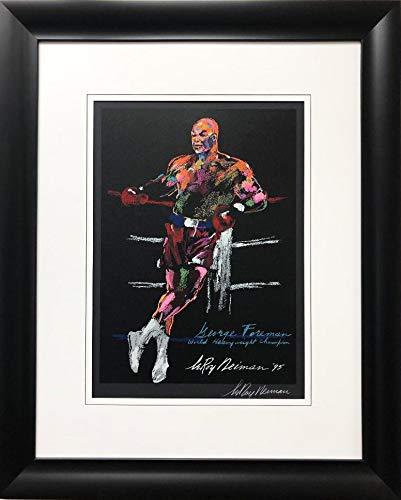 "LEROY NEIMAN ""George Foreman- World Heavyweight Champion Hand Signed Framed Serigraph 30"" x 37"""