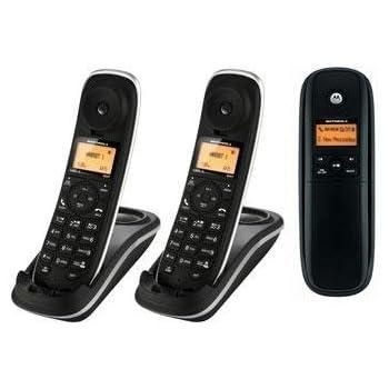 Motorola H203 1.9 GHz Digital DECT 6.0 3X Handsets Cordless Phones Integrated Answering Machine