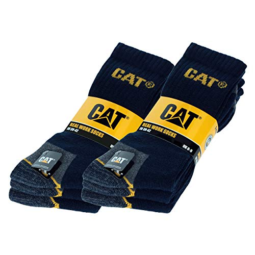 CAT Caterpillar Adults Heavy Duty Workwear Socks – Pack of 6