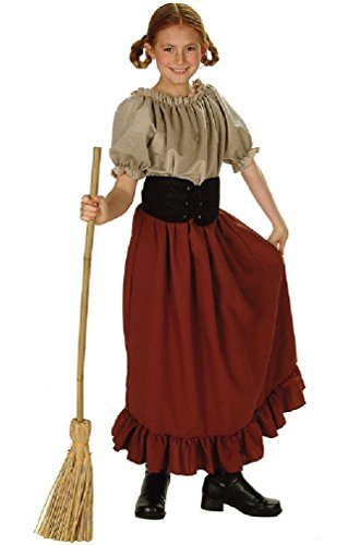 Renaissance Peasant Girl Child Large Halloween Costume Child Renaissance Peasant Girl