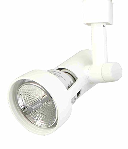 Lithonia Lighting LTH9000 PAR20 WH M24 1-Light Front Loading Commercial Track Head, 1-2 Circuit, Aluminium, PAR20-Compatible Led, 3-5/16