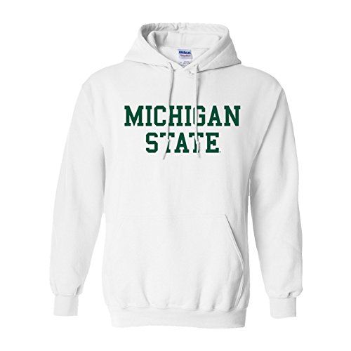 Michigan State Spartans Basic Hoodie - Medium - White