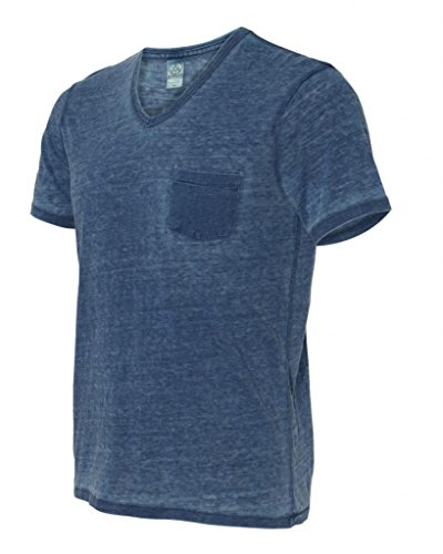 Seventies Jersey Burnout V Neck T Shirt Faded product image