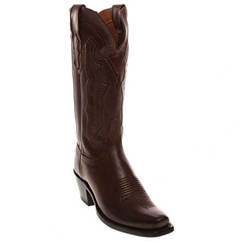 Lucchese Womens Handmade Grace Ranch Hand Western Boot Square Toe - M5006.74 Tan