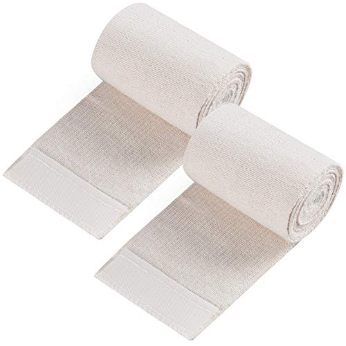 Elastic Bandage, LotFancy Cotton Compression Wrap with Hook-and-Loop Closure on Both Ends, 3 Inches by 5 Yards, Pack of 2