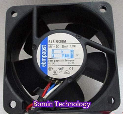 Bomin Technology for EBMPAPST 618N//39M 48V 1.9W 3-Wire 6CM Inverter Cooling Fan