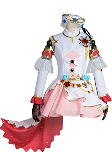 Indian School Uniform Costume (Sonoda Umi School Idol Cosplay Costume Set Uniform Outfit Dress Short Skirt Stage Performance Suit (Medium))