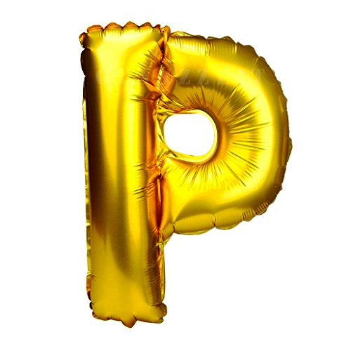 (Glanzzeit 16 Inch Gold Balloons Decor Letters A to Z Numbers 0 to 9 for Wedding Prom Birthday Party (Letter)