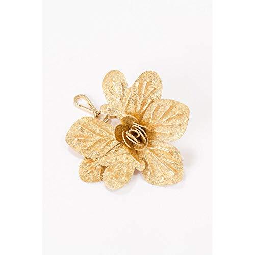 Chaveiro Flor Latina Dourado - U