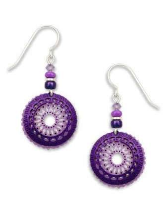 Adajio By Sienna Sky Light Violet Filigree Circle with Rich Purple Ring 7448