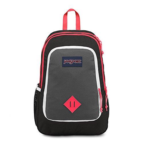 JanSport Super Sneak Backpack - Black/Fluorescent Red
