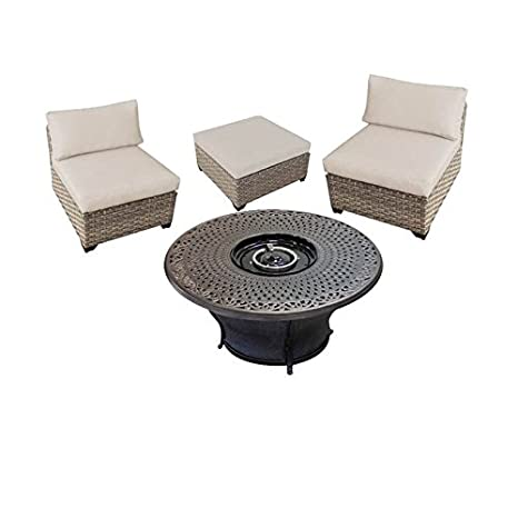 Fine Amazon Com Home Square 4 Piece Patio Furniture Set With 48 Spiritservingveterans Wood Chair Design Ideas Spiritservingveteransorg