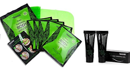 - Neutriherbs 45 Min Ultimate Body Wraps Applicator (5) Plus Bonus Slimming Shape Up Wrap Strap, Weight Loss,Tones Tightens and Firms & 2 PC 15 ML Superior Body Defining Gel