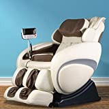 OS-4000 Zero Gravity Heated Reclining Massage Chair - Cream Color Upholstery