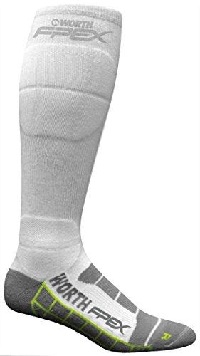 Moisture Management Jersey - Worth Fpxsts Women's Graduated Compression Socks (White, Medium)