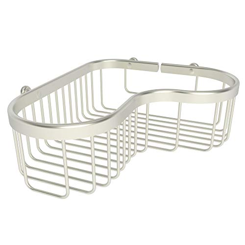 (Ginger Splash Large Corner Basket - 505L/SN - Satin Nickel)