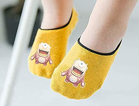 Toddler Non Skid Low Cut Socks Anti Slip Grip Slippers for Baby Kids Boys Girls 1-3T, 2