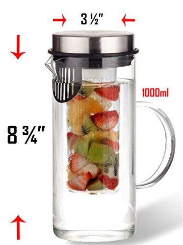1000ML-Borosilicate-Glass-Fruit-Infusion-Pitcher-BPA-Free-Fruit-Infuser-Borosilicate-Glass-Water-Pitcher-Infusion-Cylinder-Built-in-Strainer-Stylish-Design-with-Stainless-Steel-Lid
