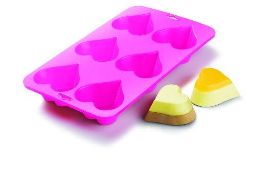 (Siliconezone Heart Baking Pan, Pink)