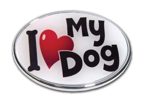 """Love My Dog - Oval Shape 2"""" Hitch Receiver - 3/8 Inch Thick"""