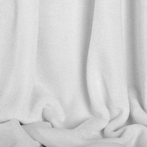 Berkshire Microloft Fleece Blanket, White Full/Queen