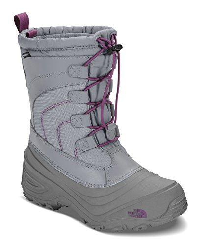 The North Face Alpenglow IV Boot, Frost Grey/Wood Violet, 1 M US Boys