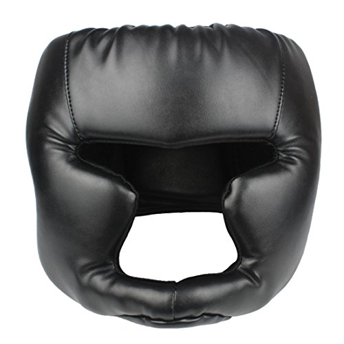 Andux Land Boxing Headgear, Boxing Head Guard Head Protection Thick Leather QJTT-01 (L)