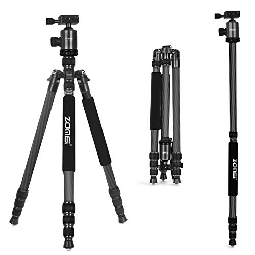 ZoMei Carbon Fiber Tripod,Camera Tripod for dslr,66.5